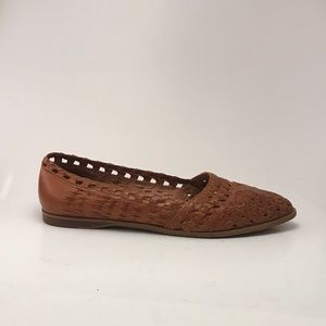 Leather Woven Flats
